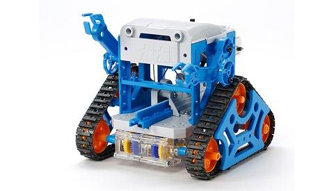 ロボットプログラミングコースで使用するタミヤ製カムプログラムロボット