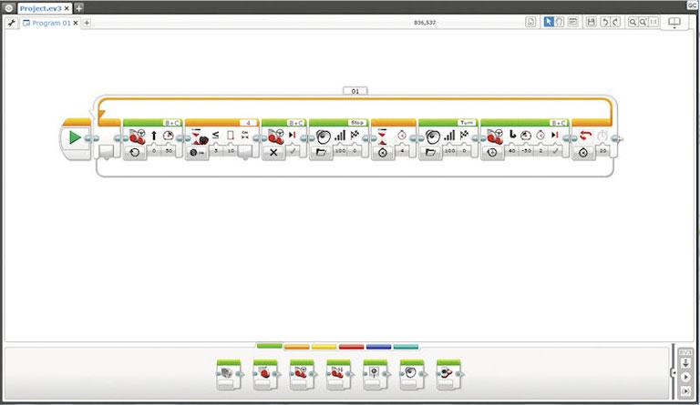 マインドストームEV3用のビジュアルプログラミング