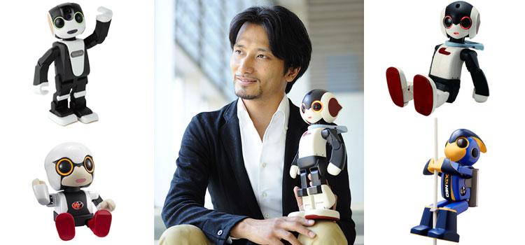 「キロボ」「ロビ」「ロボホン」「エボルタ」などを生み出してきた世界的ロボットクリエイターの高橋智隆