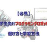 【必見】小学生向けプログラミングロボットの選び方と学習方法